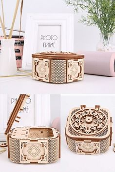 perfect little brain-game for your chlid/kid,#gift #musicbox #jewelrybox #kid #child #braingame Wooden Model Kits, Ode To Joy, Three Dimensional, Wooden Boxes, Jewelry Box, Brain, Child, Game, Creative