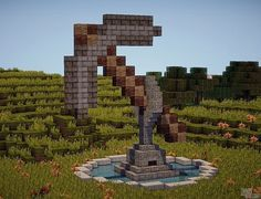 Giant Pickaxe Statue Minecraft Project