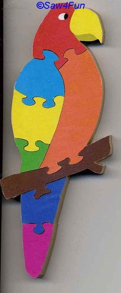 lion scroll saw puzzle patterns | parrot puzzle scroll saw pattern 8 piece puzzle includes color