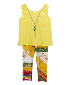 Yellow Bow Tank Set - Toddler & Girls