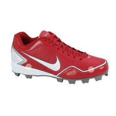 Kids Nike Keystone BG Baseball Cleats Red Leather - ONLY $29.99