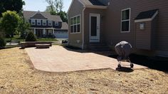 One of our latest installs --Patio, Firepit and Retaining Wall in New Freedom, PA by Webster's Landscaping.      www.websterslandscaping.com  www.pond-contractor.services/websters-landscaping-york-pa.html