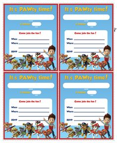 Paw Patrol Birthday - Get ready for a PAWtastic party with these free printables and party ideas including invitations, coloring pages, Paw Patrol cake, stickers, printable games, masks, decorations.