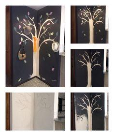 """Les comparto el proceso que seguí para crear este perchero en una pared """"inútil"""" de la casa."""