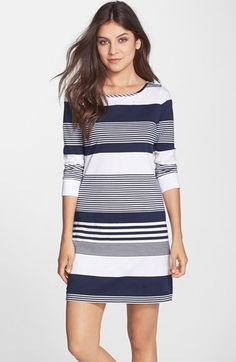 Lilly+Pulitzer®+'Marlowe'+Stripe+Pima+Cotton+Shift+Dress+available+at+#Nordstrom