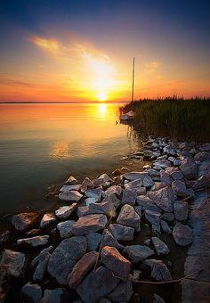 of Lake Balaton, Hungary Travel Around The World, Around The Worlds, Hungary Travel, Heart Of Europe, Budapest Hungary, Travel Photos, Sunrise, Beautiful Places, Scenery