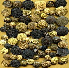 Military Uniform Metal Buttons