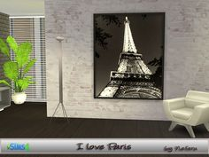 Beautiful pictures of Paris_4 variations  Found in TSR Category 'Sims 4 Paintings & Posters'