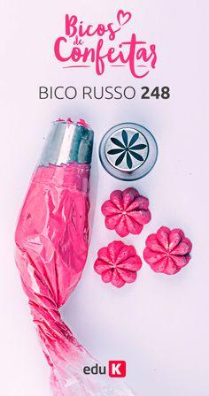 Aprenda a usar este e outros bicos de confeitar para brilhar na confeitaria e decorar seus bolos e cupcakes ♥