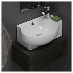 CeraStyle by Nameeks Mini Corner Ceramic Bathroom Sink #Contemporary $205