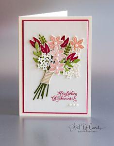 "Grußkarte mit dem Stempelset ""Blüten des Augenblicks"" von Stampin Up.  #artofcards #stampin #stampinup #blütendesaugenblicks #diy #blumenstrauß"
