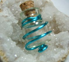 Free Stuff: Wire Wrapped Empty DIY Glass Bottle Vial Cork Mustard Seed Jar Amulet Orb Jewelry Crafts  - Listia.com Auctions for Free Stuff Bottle Necklace, Bottle Jewelry, Bottle Charms, Diy Necklace, Glass Vials, Mustard Seed, Wire Wrapped Jewelry, Wire Jewelry, Jewelery