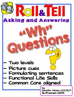 Week A must-have to target multiple goals with a variety learner levels. Great way to ask and answer questions! Speech Therapy Activities, Speech Language Pathology, Language Activities, Speech And Language, Language Arts, Language Lessons, Kid Activities, Wh Questions, This Or That Questions