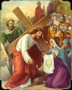 Εικόνα, Jesus carries the cross. Veronica wipes the face of Christ. John 14:9.