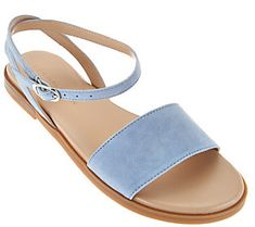 H by Halston Suede Sandals with Ankle Strap - Chase