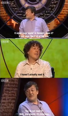 I love Stephen Fry - and the Brit program QI
