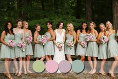 Sage Color For Bridesmaids Dresses Fall 2017 Vestidos De Madrinas En Verde Claro