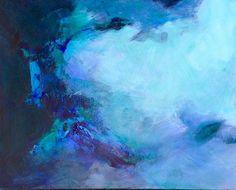 CENOTE by Sally Fraser Acrylic ~ 24 x 30