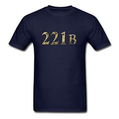 Amazon com SuperTTS Fashion 221b design for Men 39 s navy T Shirts Clothing