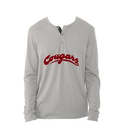 Cougars Long Sleeve Henley