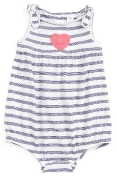 a1aac4ae7 Nordstrom Baby Bubble Romper (Baby Girls) at Nordstrom.com. A textured heart