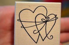 Zur Hochzeit, Verlobung : Zwei miteinander verbundene Herzen Stempel 5  x  5 cm http://cgi.ebay.de/ws/eBayISAPI.dll?ViewItem&item=351016999168