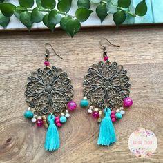 Boho Turquoise Tassel Earrings Statement Earrings Long Tassel Earrings for her Hippie Earrings Boho Colorful Earrings Boho Jewelry Gift #tasselearrings #tasseljewelry #turquoise #colourfuljewelry #hippieearrings