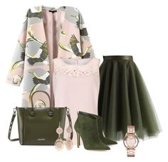 """""""Pink n Green"""" by sherlynd ❤ liked on Polyvore featuring Chicwish, Jacques Vert, Charles Jourdan, Gianvito Rossi, Red Camel and Marc by Marc Jacobs"""