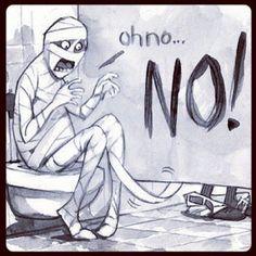 Mummy In Trouble halloween mummy halloween humor halloween jokes funny halloween…
