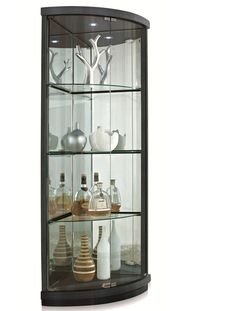 Corner Curio Cabinet wall curio cabinet white Gone are the days when decorating was a a single-and-accomplished deal. Today's residence deco. Curio Cabinet Decor, Glass Curio Cabinets, Corner Display Cabinet, Corner Curio, Crockery Cabinet, Corner Shelves, Cabinet Design, Display Cabinets, Glass Shelves