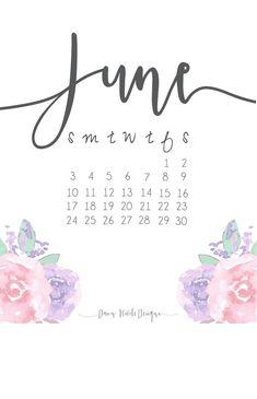 Best June 2018 Floral Calendar To Print