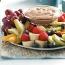 Marshmallow Fruit Dip Recipe ~Ingredients 1 package (8 ounces) cream cheese, softened 3/4 cup (6 ounces) cherry (or strawberry) yogurt 1 carton (8 ounces) frozen whipped topping, thawed 1 jar (7 ounces) marshmallow creme Assorted fresh fruit ~AWESOMENESS!