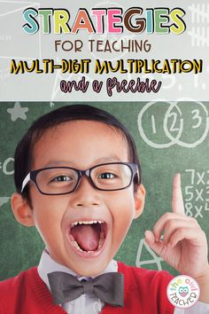 This post walks you through multi-digit multiplication strategies, provides you with anchor charts, worksheets, and teaching activities to use in your classroom so that your students will be engaged. And bonus- it comes with a freebie! Save this pin and click through to read all about this math strategy! Upper Elementary Resources, Free Teaching Resources, Teaching Social Studies, Teaching Activities, Teaching Writing, Elementary Math, Multi Digit Multiplication, Multiplication Strategies, Teaching Strategies