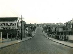 Rua Monte Alegre (1940) - Obras de pavimentação da Rua Monte Alegre, no bairro das Perdizes.