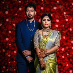 Bridal Poses, Bridal Photoshoot, Wedding Poses, Engagement Dress For Groom, Couple Wedding Dress, Bridal Hairstyle Indian Wedding, South Indian Bride Hairstyle, Indian Wedding Couple Photography, Wedding Photography Poses