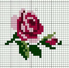 New Embroidery Rose Pattern Design Cross Stitch Ideas Mini Cross Stitch, Simple Cross Stitch, Cross Stitch Charts, Cross Stitch Designs, Cross Stitch Patterns, Cross Stitch Flowers Pattern, Rose Embroidery, Cross Stitch Embroidery, Embroidery Patterns