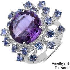 Malaika Sterling Silver Amethyst/ Tanzanite or Smokey Topaz/ Citrine Ring (2.265 RUB) found on Polyvore Purple Quartz, Smokey Topaz, Citrine Ring, Amethyst Jewelry, Birthstones, Jewelry Rings, February, Sapphire, Gemstone Rings