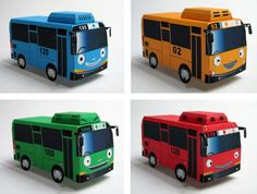 PAPERMAU: Little Buses Paper Models For Kids - by Paper Inside Korea