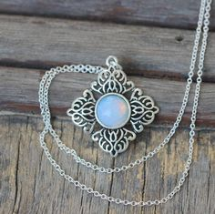 5$ Vintage Style Mystical Charming Moonstone necklace Christmas gifts