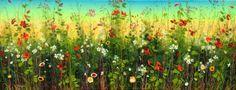 The Art Shop Amsterdam Leiden Alphen a/d Rijn   Galerie, webshop en kunstuitleen - Yulia Muravyeva Abstract Nature, Wild Flowers, Fields, Fairy Tales, Leiden, Canvas, Oil Paintings, Amsterdam, Amy