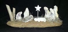 Oyster Shell Nativity Scene (Creche) by FromTheSandandSea on Etsy