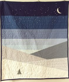 From SkyClad Quilts: The NightSky Quilt is a design inspired by the colors and patterns of nature and the night sky. Includes directions to make a crib size or wall hanging sized quilt ~ x (as well as a size options for a throw size approx. Drunkards Path Quilt, Geometric Patterns, Block Patterns, Owl Patterns, Canvas Patterns, Sewing Patterns, Modern Quilting Designs, Modern Quilt Patterns, Modern Baby Quilts