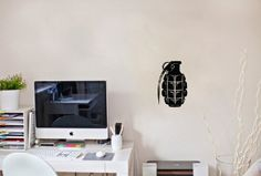 Wall Vinyl Sticker Decal Art Design Army Manual Grenade Room Nice Picture Decor Hall Wall Chu834 Thumbs up decals http://www.amazon.com/dp/B00JAG5S1G/ref=cm_sw_r_pi_dp_nTa2tb0W8DAFZBPT
