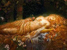 Sleeping Beauty, Kinuko Y. Craft illustrator
