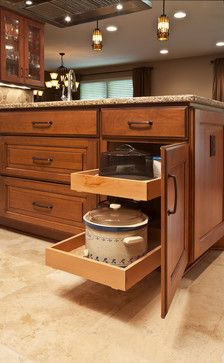 Lots of drawers or pullout drawers.     transitional kitchen cabinet designs | 35,056 kitchen cabinet organization Transitional Home Design Photos