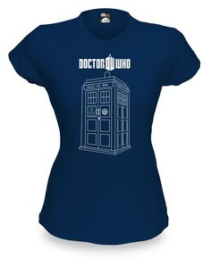 ThinkGeek :: Doctor Who Linear TARDIS Babydoll $21.99