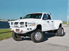 custom lifted duallys   Video Description: Here is that awesome Black Dodge Ram that I caught ...