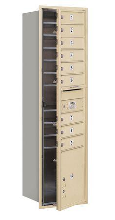4C Horizontal Mailbox Maximum Height Unit Single Column 9 Doors and 1 Parcel Locker Front Loading Private Access