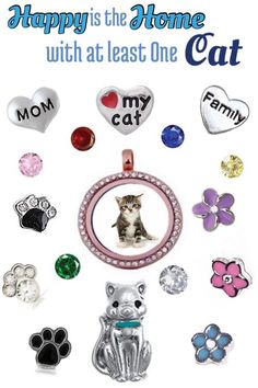 Pets are family, what better way to show them off than with an Our Hearts Desire locket.  Charms for cats and dogs. #kitty #puppy