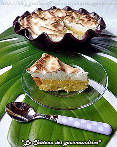 Torta di ricotta e ananas meringata al limone - Pineapple ricotta cake with lemon meringue